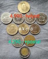 """Forint érmék 10-20-50-100 """"lot"""" leárazva!"""