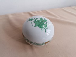 Herendi Apponyi mintás zöld bonbonier