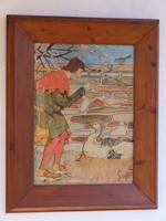 ARANYTOJÁS, vízfestmény (140126)