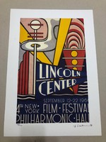 Roy Lichtenstein(1923-1997)'Lincoln Center' litografia STYRIA studió 1996 - Castelli Graphics