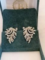 Antik jelzett ezüst fülbevaló,nagy és nehéz, valódi markazitokkal. Kuriózum, gyűjtők figyelmébe