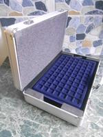 Érme bőrönd koffer ALU 205 db érmének gyűjtőknek 40*25*10 cm új!