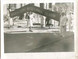 Petrovszkij Klinika Baleseti Kórház Dolgozói Felvonulás cca 1950