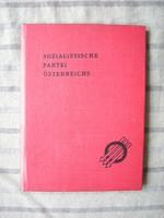 Pártkönyv vörös szocialista osztrák , még ottvoltak a szovjet katonák is ( politika military )