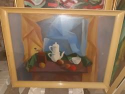 Sikuta Gusztàv kèpcsarnokos,art,-deco csendèlete.