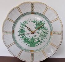 Herendi, indiai kosár mintás tányér óra