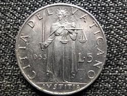 Vatikán XII. Pius Justitia 5 líra Anno XV 1953 (id42362)