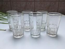 Retro üveg pohár 3cl magyar hitelesített 6 db
