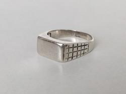 Ezüst pecsétgyűrű magyar fémjeles 925