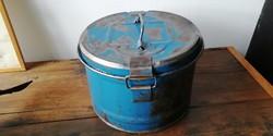 Fém tároló doboz, filmtekercs szállítására használt doboz, loft, ipari