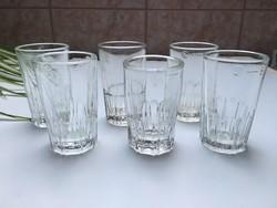 Retro üveg pohár 5cl magyar hitelesített