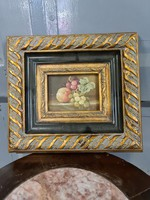 Miniatűr gyümölcs csendélet festmény