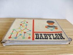 Retro,vintage BABYLON építőjáték