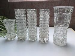 Retro üveg váza 5 db egyben