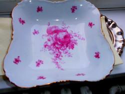 Hüttl Tivadar antik porcelán köretes  tál