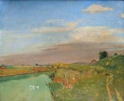 Kerekes József (1892 - 1938  ) Folyóparti táj