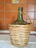 Üveg demizson, boros, pálinkás korsó 2 literes