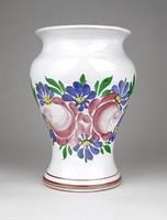 1D588 Városlődi virágdíszes kerámia váza 15.5 cm