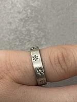 Ezüst-Gyémánt brill gyűrű 16mm belső átmérőjű jelzett