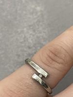 Ezüst-Gyémánt brill gyűrű 17mm belső átmérőjű jelzett