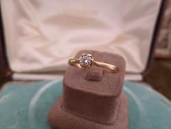 Arany brilles szoliter gyűrű