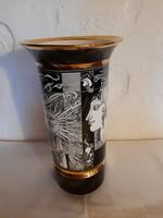 Hollóházi Szász Endre váza 30 cm