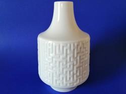 OP ART fehér porcelán váza a 60-as évekből