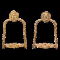 Aranyozott bronz kengyel pár