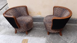Extra art deco kör klub fotel pár 1930