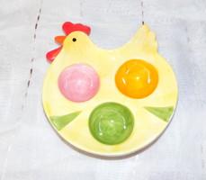 Tyúk alakú tojástartó, kínáló