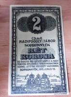 Hadifogoly  pénz 2 Korona Sopronnyék