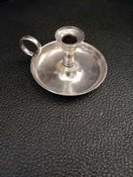Ezüst  kézi gyertyatartó. 800 ezüst finomságú.
