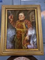 Flamand stílusú kocsmáros festmény