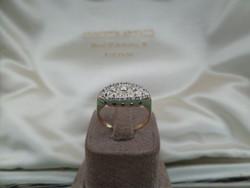 Régi szép arany gyűrű sok apró gyémánttal
