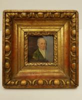 Antik nemes férfi festmény. Biedermeier portré.