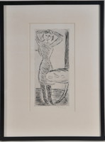 Czóbel Béla (1883-1976): Fiatal lány, rézkarc