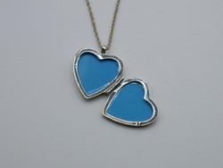 KK1030 ezüst nyaklánc kinyitható szív alakú medál 925 fémjelzett