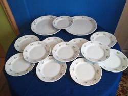 12 személyes Zsolnay barackvirágos sütis készlet