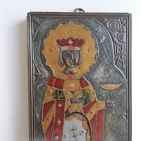 Pravoszláv zománc ikon, Ilona a régészek védőszentje