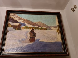 Old painting (snow)