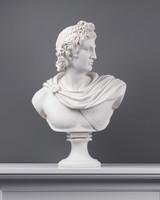 Apolló Mellszobor (Nagy) 53 cm (Fehér Márvány) - Férfi Büszt - Görög Isten Szobor