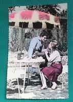 Emberek,régi jugoszláviai romantikus képeslap