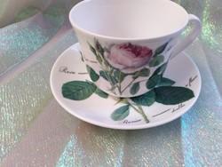 Roy Kirkham Redouté Roses porcelán teás csésze, aljával.