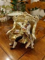 Antik csodás Alt Wien barokk figura! XIX. század!