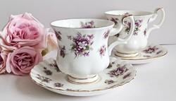 Royal Albert ibolyás kávés csésze