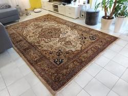 Sorszámozott indiai tabriz minta 190x295 kézi csomózású gyapjú perzsa szőnyeg MM_715