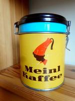 Régi Meinl kávés fémdoboz