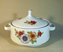 Alföldi porcelán leveses tál ,ritka mintával