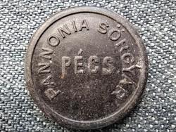 Pannonia Sörgyár Pécs 1886 1 Liter Háziital sörtikett (id45988)