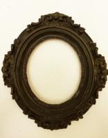 Antik képkeret. Barokk díszítésű ovális ráma.